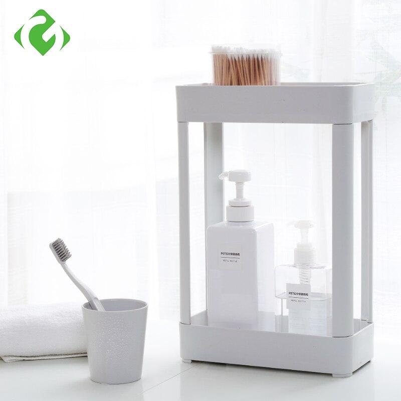 GUANYAO Bathroom Storage Organization Double Layer Storage Shelf Thickened  Material Small Corner Shelf White Minimalist Style