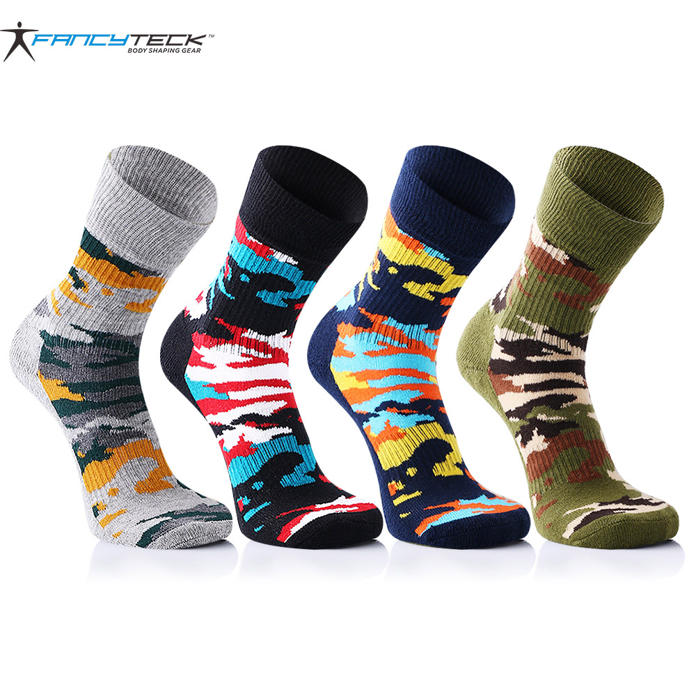 4 pairs/lot Mens Funny Happy Socks Camouflage Colorful Men Socks Cotton Mens Short Warm Socks Breathable And Comfortable