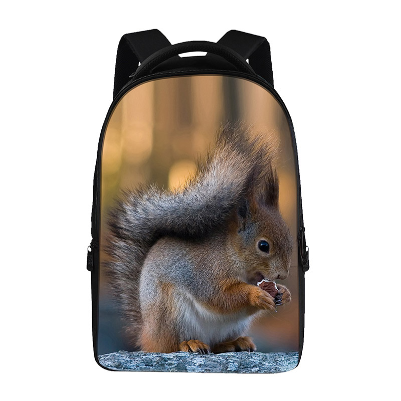 squirrel prints Backpacks For Teens Computer Bag Fashion School Bags For Primary  Schoolbags Fashion Backpack Best Book Bag f19504a65dc75