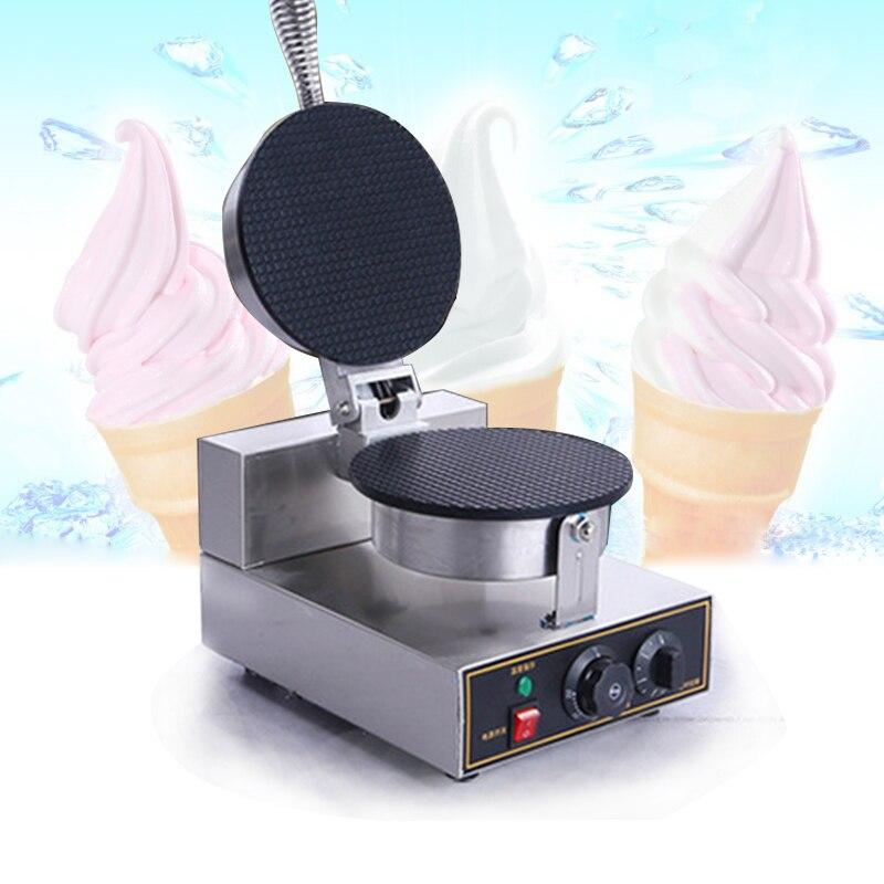 Single Head Commercial Nonstick Electric Ice Cream Cone Machine Ice Cream Egg Roll Maker