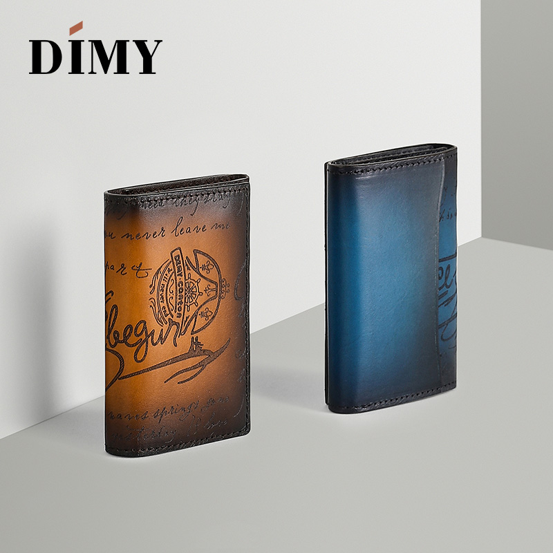 Dimy Bag Accessories Men Wallet Business Card Holder Case Men Cow Genuine Leather Vintage Letter Coin Purses Credit Card Hoder in Card ID Holders from Luggage Bags