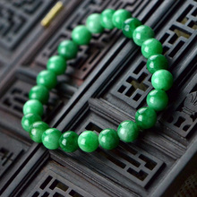 Malay jade bracelet 8MM natural green female fashion jewelry gift free shipping