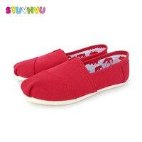 Clássico sapatas de lona meninos e meninas das crianças sapatos baixos primavera verão suave sole bebê calçados casuais estudantes sneakers leves