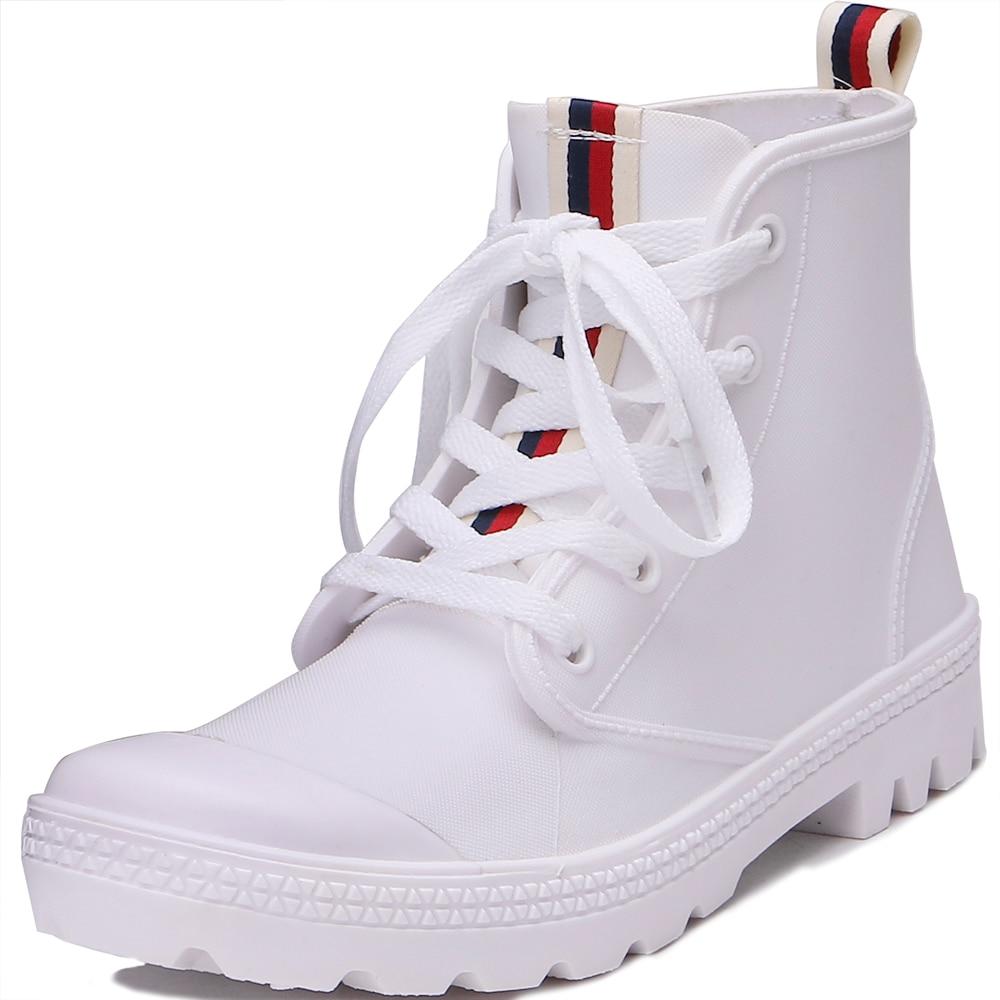 TONGPU Simple Design Girls Street Sneaker Style Waterproof Rain Shoes 126-400