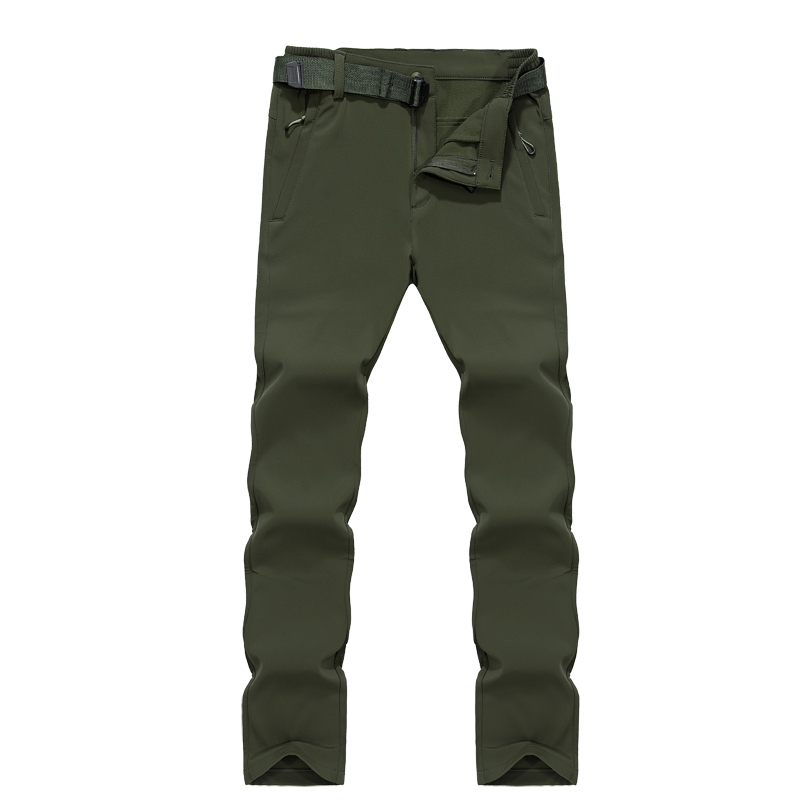 AFS JEEP Brand Winter Thermal Hiking Pants Men Waterproof Outdoor Sport Camping Climbing Trekking Trousers Fleece Outdoor Pants