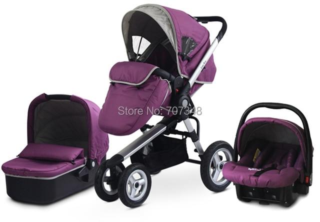 Wholesale and Retail Modern Stroller,the Tyre of Black Color Stroller is EVA,Baby Pram 3 in 1,Boy and Girls Safety Stroller Pram