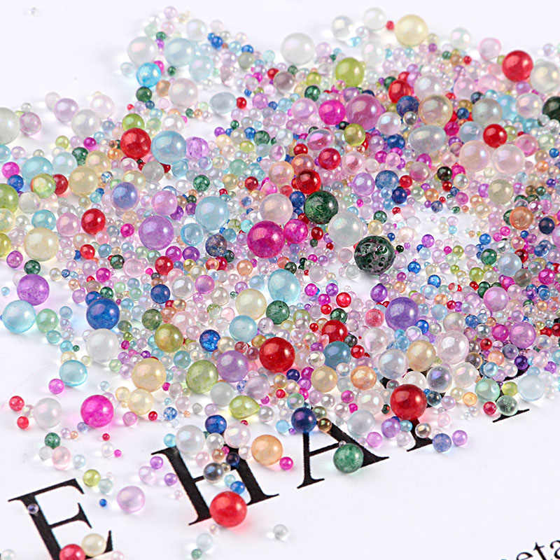 10g/Pack Mini Bubble ball beads 0.4-3mm mixed tiny beads for glass globe silicon mold filler charms DIY Nail Craft Home Decor
