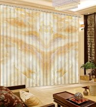 3D European Blackout Curtain marble Window Bedroom Living room Luxury Curtains Decorative Paintings(China)