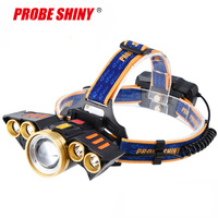Headlight 40000 Lumen Headlamp 5*T6 LED Head Lamp Flashlight Torch Lanterna head light with 18650 battery AC/DC charger