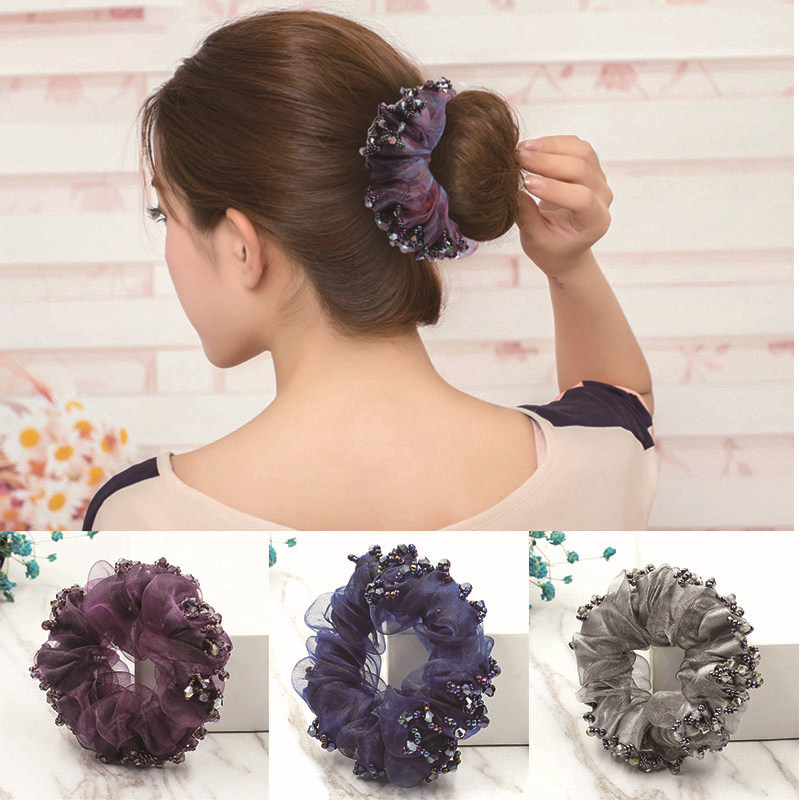 Aikelina Fashion Headwear High Quality Women Lady Magic Shaper Donut Hair Ring Bun Headband Styling Tool Hair Accessories купить