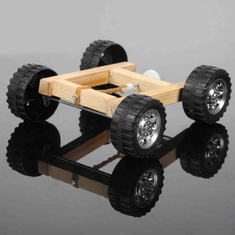 handmade rubber band assembled car diy assembled car puzzles toy model car toys for kid learning