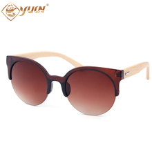 Vingtage Round Bamboo Sunglasses Women Brand Designers Handmade Men Fashionable Sun Glasses Sport Eyewear Oculos De Sol 1035
