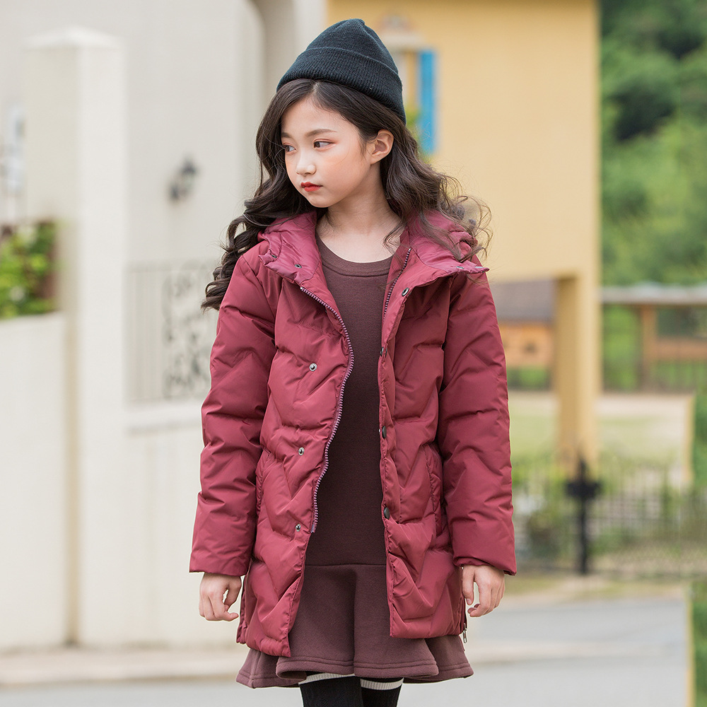 Kseniya Kids 2018 Autumn And Winter New Children's Thick Warm Cotton Clothes Girls Winter Jackets Girls Winter Parka children autumn and winter warm clothes boys and girls thick cashmere sweaters