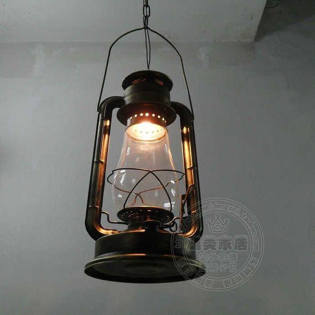 Fashion pendant light brief vintage lantern american style ...