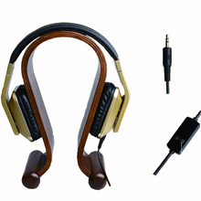 Two Colors 3.5mm Stereo HiFi Music Gaming Soft leather Headphone heavy bass With Microphone for PC iPhone Samsung Xiaomi Phones