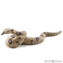 Original Simulation Animal Figurine Model Toy Andalusian Boa constrictor Snake Figure Doll PVC Collectible Figure Education Toy