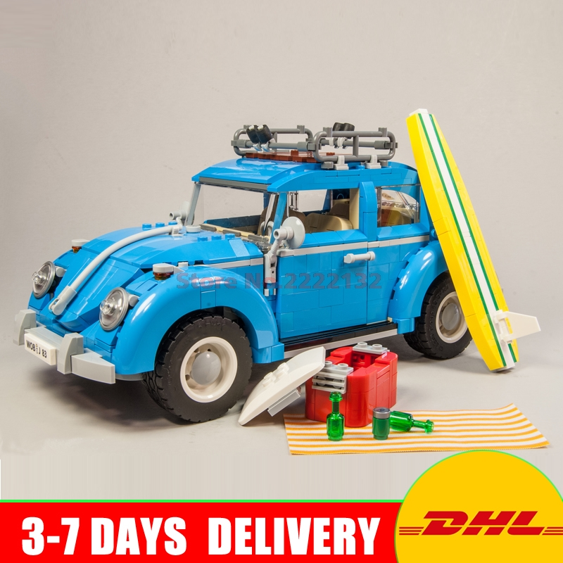 In Stock LEPIN 21003 1193Pcs Creator Series City Car Beetle model Building Blocks Blue Technic Children Toys Gifts Clone 10252 decool 3117 city creator 3 in 1 vacation getaways model building blocks enlighten diy figure toys for children compatible legoe