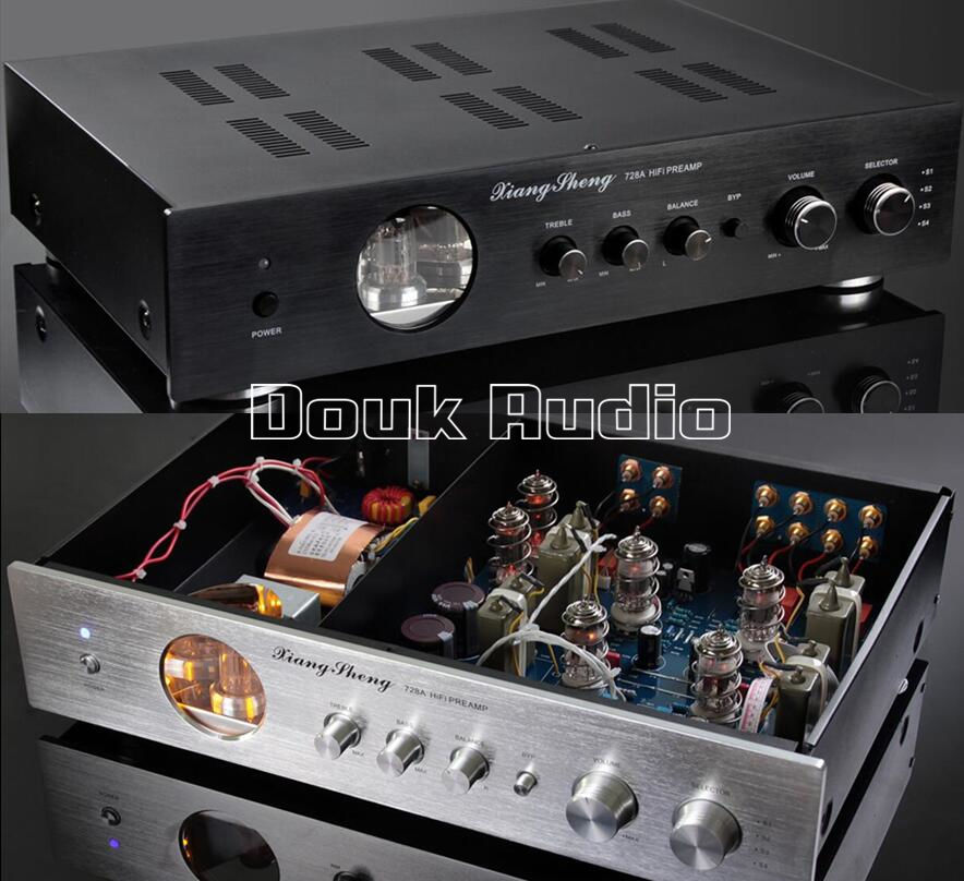Nobsound Latest High End XiangSheng 728A Vacuum 12AT7 12AU7 Tube Pre-Amplifier Stereo HiFi Preamp Audio Processor 1pcs high quality little bear p5 stereo vacuum tube preamplifier audio hifi buffer pre amp diy new
