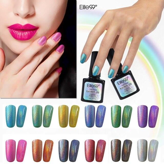 Elite99 Arco Iris de Colores del Polaco del Gel 10 ml UV Gel Laca ...