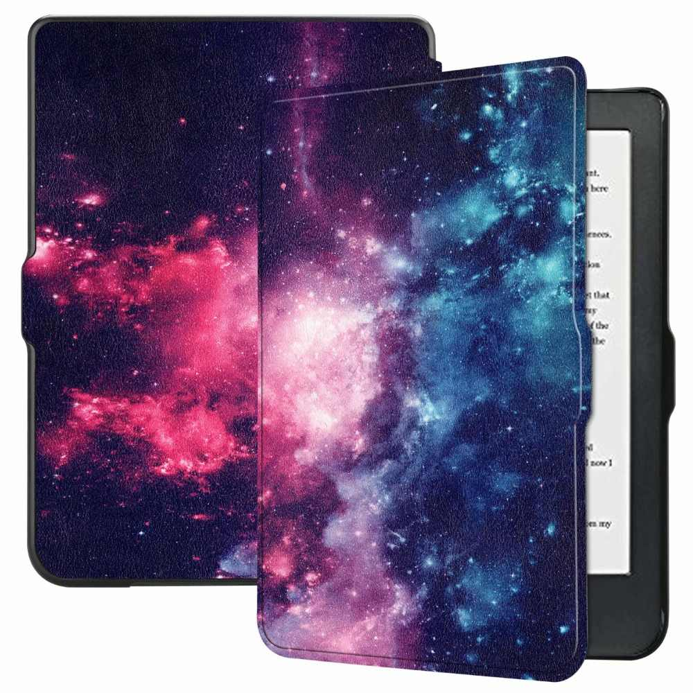 Silicon black case For Kobo Clara HD 2018 6.0 Inch Ebook Reader Print skin for Kobo Clara HD 6 Ultra-thin Smart Stand Cover+pen