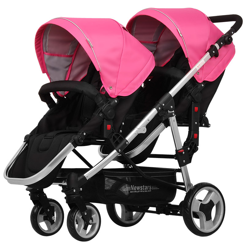 New Carriage Seat ~ Newstars twins baby stroller fold light detachable double