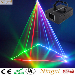 Rgb pełny kolor światło laserowe liniowy efekt skaner oświetlenie sceniczne projektor laserowy DJ do dyskoteki Xmas Party pokaz disco Lights w Oświetlenie sceniczne od Lampy i oświetlenie na