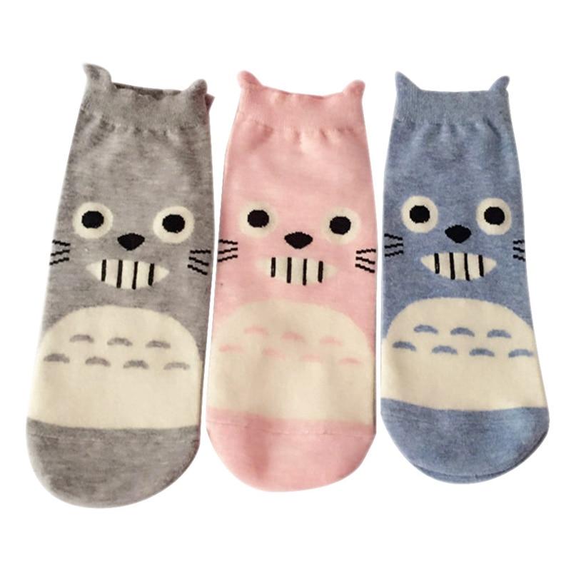 1pair My Neighbor Totoro Socks Women Cute Lady Sox Japanese Style Soks Ghibli Miyazaki
