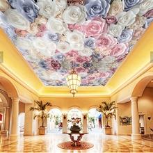 Large ceiling Papel Mural 8d/3D Colourful flower Wallpaper M