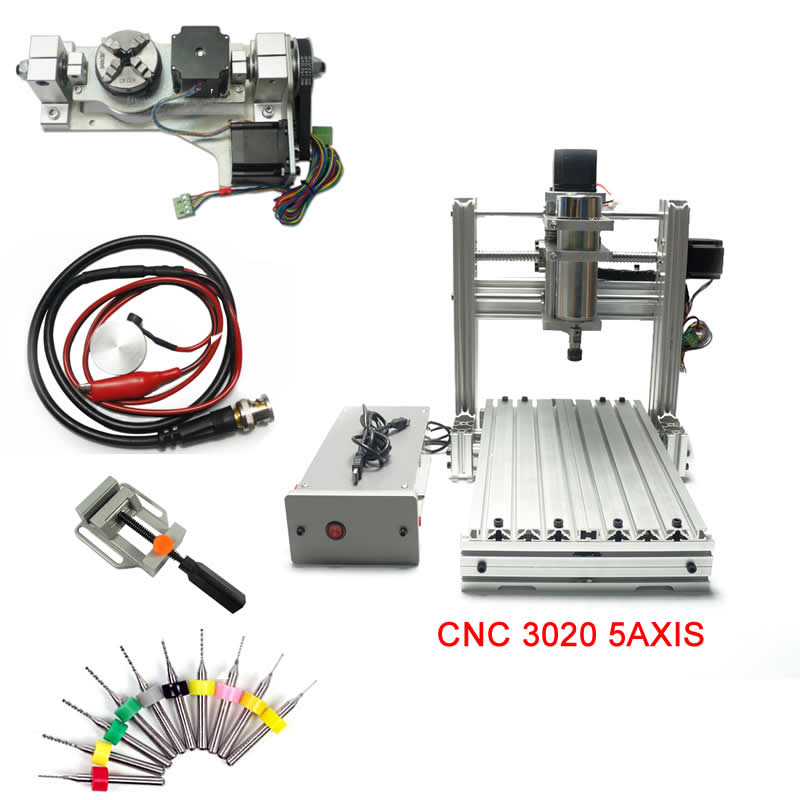 5axis cnc engraving machine mach3 control 3020 router mini