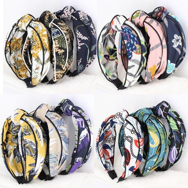 3 unids/lote Estampado de Flores Diademas Para Niñas Headwear Chic ...