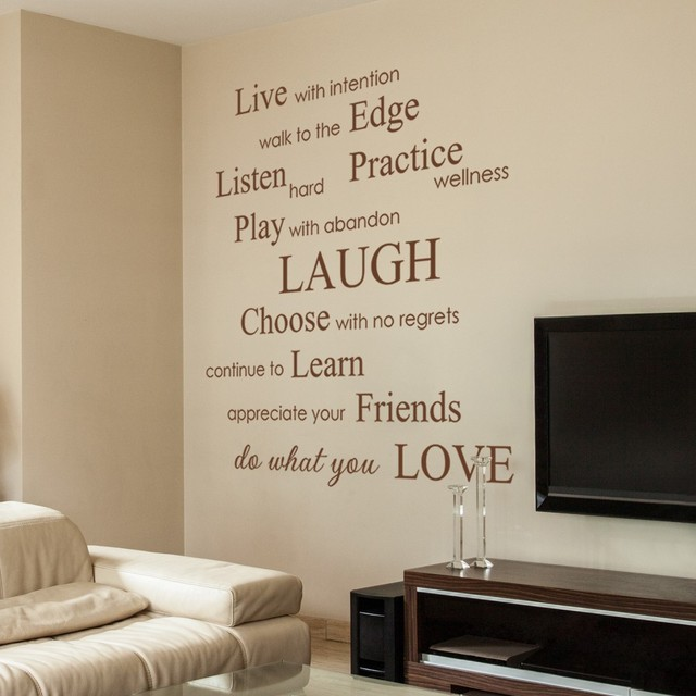 Live With Intention, Do What You Love   Inspirational Phrases U0026 Sayings Wall  Decals Stickers