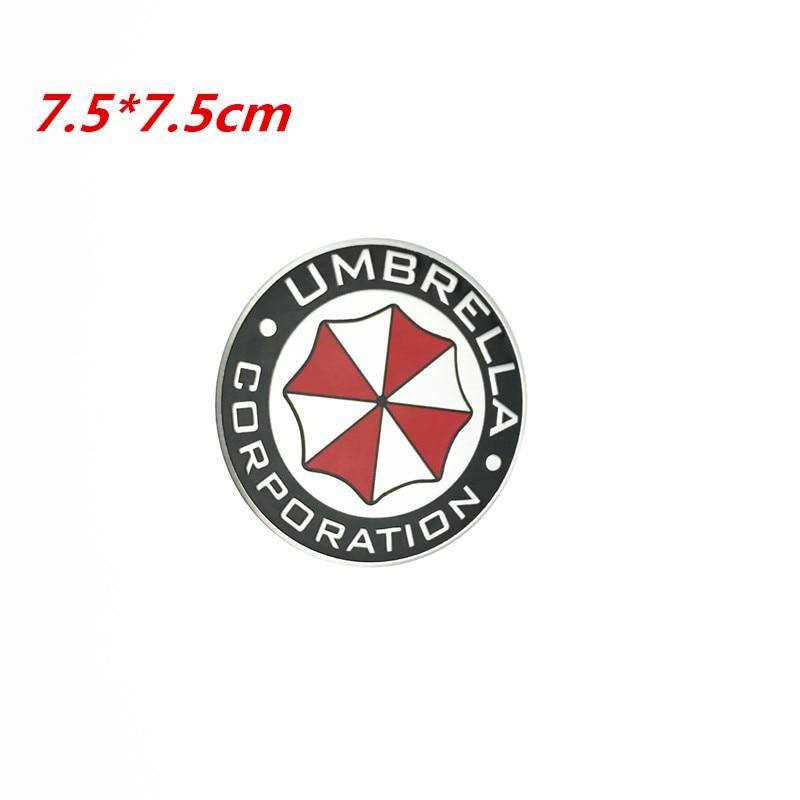 3D Resident Evil Umbrella Sticker Aluminum Emblem Badge Cool Car Trunk Metal Sticker Decals With Self Adhesive Car-styling