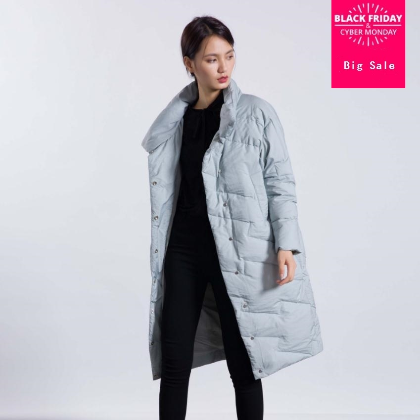 Winter fashion brand good quality X-long over the knee 90% duck   down     coat   female high collar warm   down   parkas wq140 dropship