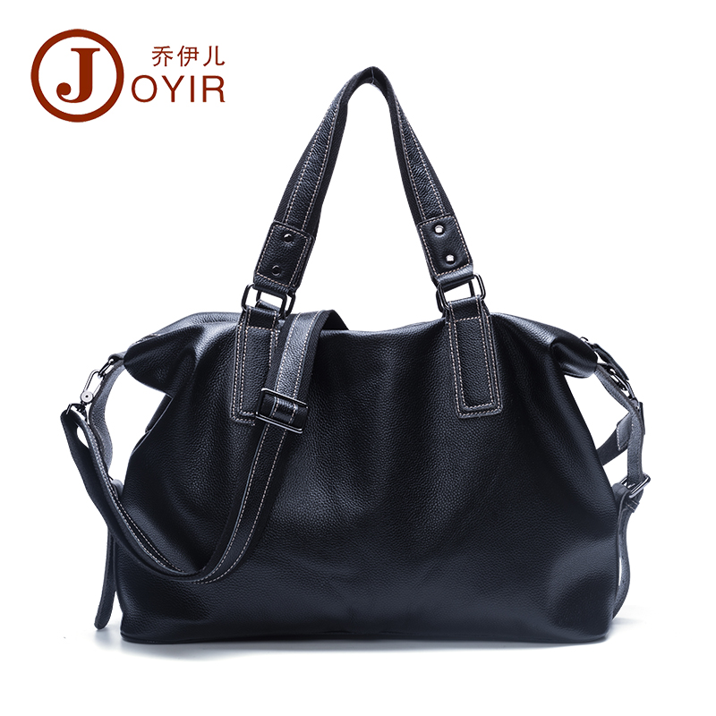 JOYIR Genuine Leather Men Handbag Laptop Tote Briefcases Crossbody Bags Casual Shoulder Bags For Men Large Travel Bag Male B158