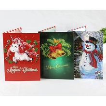 YIKEE 8pcs/lot christmas cards set,christmas greeting diamond painting,diamond painting card