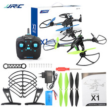Racing Drone JJRC X1 RC Quadcopter RTF w/Brushless Motor 2.4G 4CH 6-Axis Untuk RC Model Anak Hadiah Presents Mainan Hijau Biru