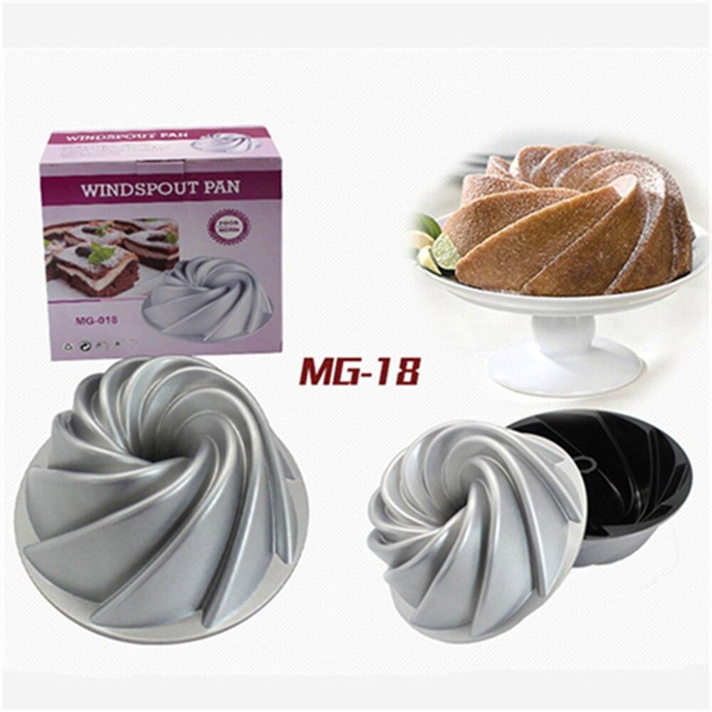 1 PC Heavy Cast Aluminum Cake Mold Metal Baking Form Kitchen Bakeware Lifetime Guarantee Cake Mould Nonstick Baking Pan Dishes