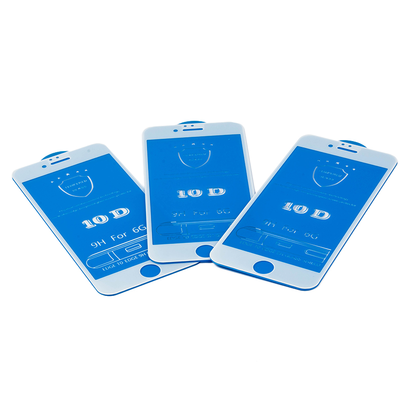 50pcs lot 10D Tempered Glass For iPhone 7 Screen Protector Full Cover Protective Glass For iPhone