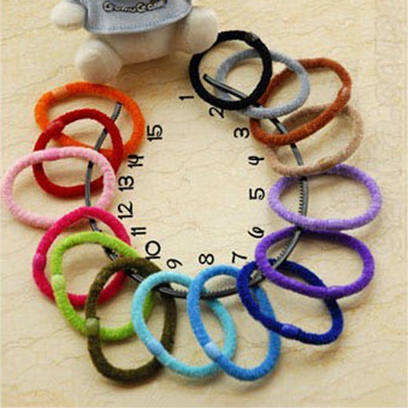 10 pcs Hair Bobbles for Girls Bands Mini Suppositories Elastic Stretchable Hair Bands hair ring