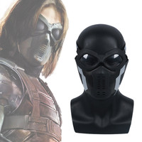 Captain America 3 Winter Soldier Cosplay mask James Buchan Barnes / Bucky Barnes Cosplay Face Mask glasses Accessories