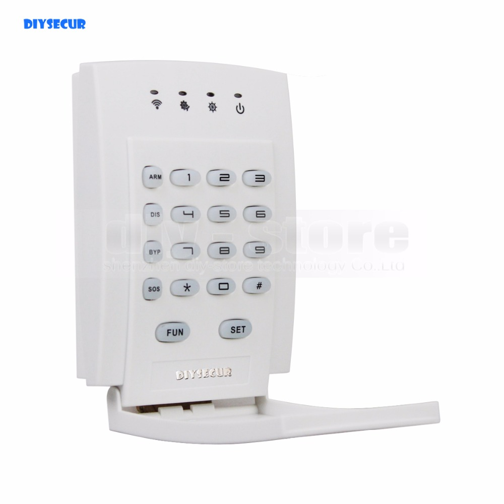 DIYSECUR JP-05 Wireless 433Mhz Password Keyboard for Our Related Home Alarm Home Security System diyseucr qg 02 wireless gas sensor for our related home alarm home security system 433mhz gas detector