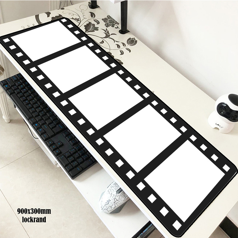 Movie Clapperboard Pad Mouse Computer Professional Gamer Mouse Pad 900x300x2mm Padmouse Xl Mousepad Ergonomic Office Desk Mats