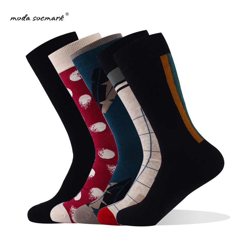 moda socmark 2019 Fashion New Men Socks kaos kaki Compression Socks Weed Fire Design Funny Man Socks With Hemp
