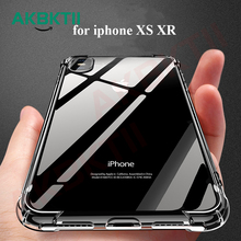 AKBKTII Shockproof Case For iPhone Xr 6 for 7 Plus 8 Phone XS Max XR Covers Clear Soft Silicone TPU Coque