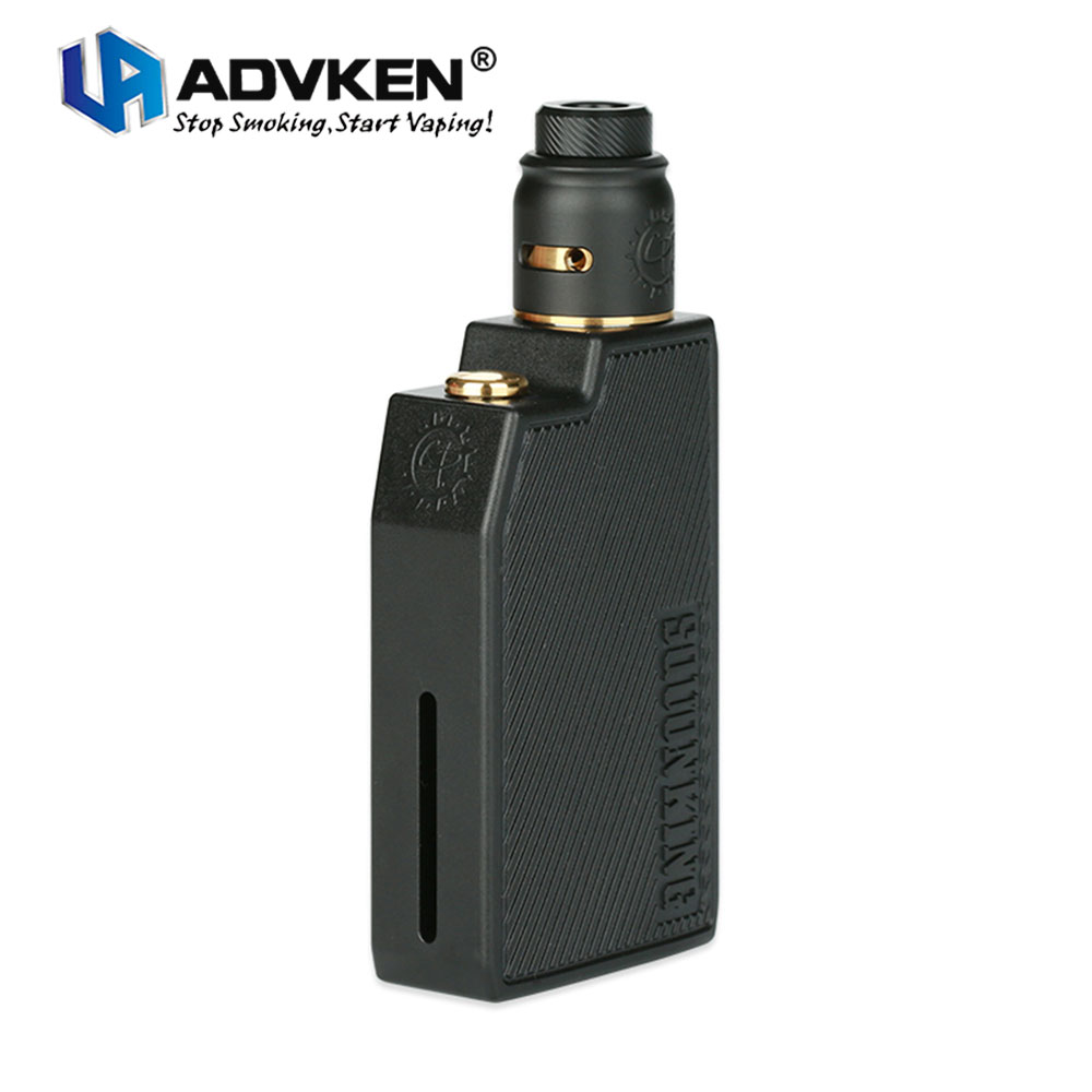 Original ADVKEN CP Squonking Kit 2ml CP RDA Tank W/ 7ml Huge Squonk Glass Bottle Cp Single Coil RDA E-Cigarette Mech Mod Kit real human hair graceful fluffy natural wavy side bang short capless daily wig for women