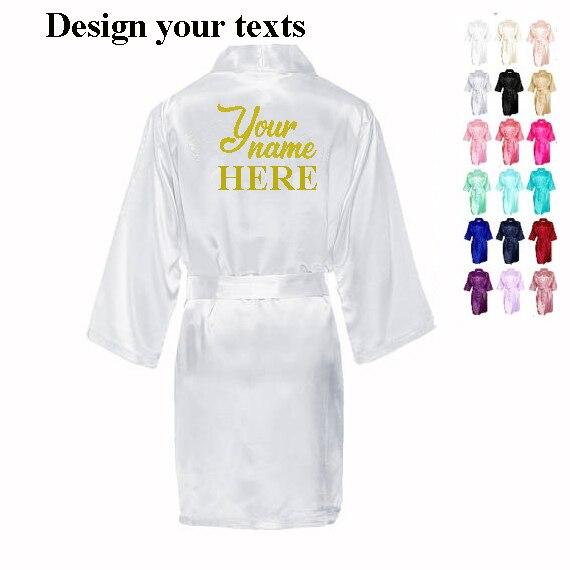 C & Fung szybkie niestandardowe spersonalizowane szaty panny młodej Bridal wspaniała szata panieński upominki na przyjęcie braidsmaid maid of honor szaty