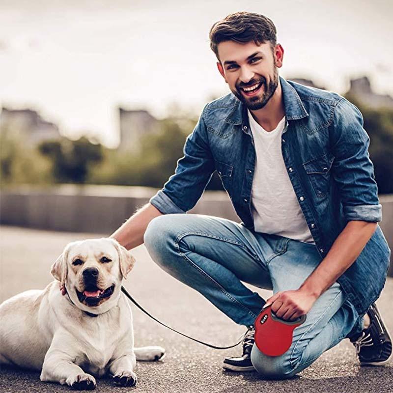 MySudui 4M Retractable Dog Leash Automatic Extending Reflective Nylon Dog Leads Leash Big Dog Leash Retractable For Large Dogs (5)