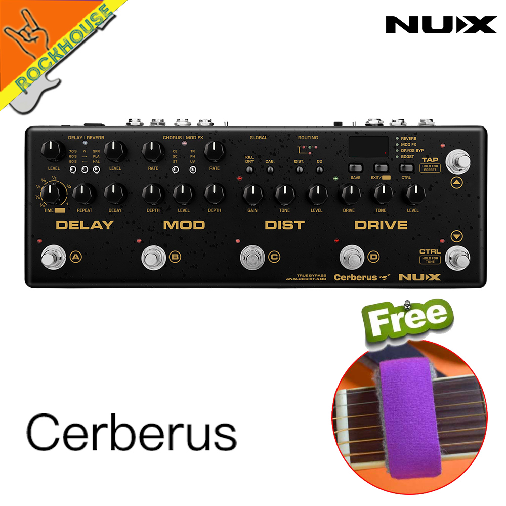 NUX Cerberus Multi Function Guitar Effects Pedal Processor Integrated Analog Overdrive Distortion Modulation and Delay Modules nux mg 20 electric guitar multi effects pedal guitarra modeling processor with drum machine eu plug