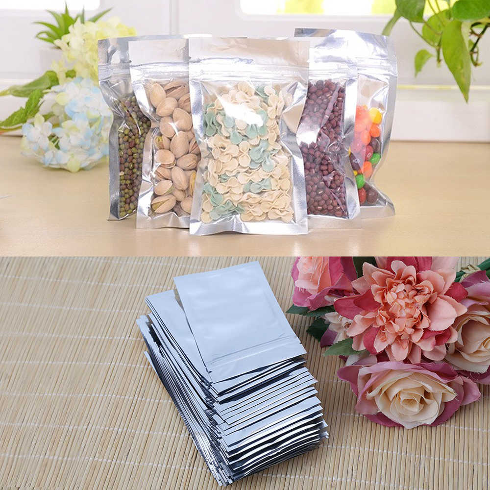 50pcs White/Clear  Ziplock Bag Self Seal Zipper Plastic Retail Packaging Poly Bag Hang Hole for Storage Pouch Free Shipping