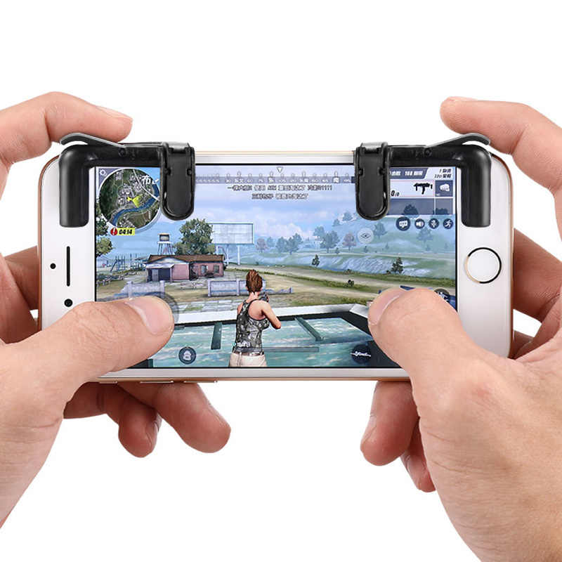 1pair Mobile Phone Gamepad Trigger Fire Button Aim Key L1R1 Shooter Controller PUBG V3.0 FUT1 For iPhone for Android Phone Games